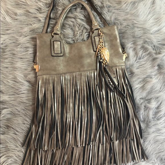 Aldo Handbags - Aldo leather fringed purse
